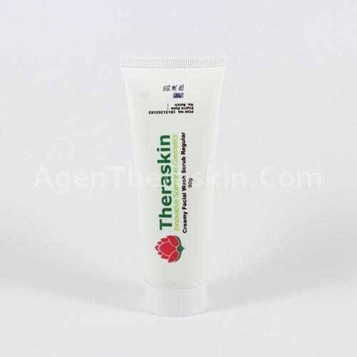creamy facial wash scrub reguler theraskin